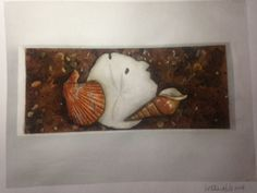 Beach in a Box,  Watercolor on paper, Unframed, Letitia Hill, (2014) ©Raven Hill Designs #whereCREATIVITYconnects