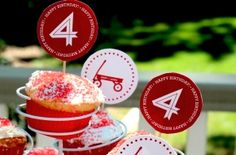 FREE Little Red Wagon / Radio Flyer Party Printables