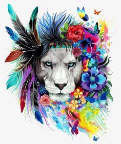 Tribal Lion Diamond Painting makes beautiful diamond art for animal lovers! This DIY diamond painting kit has everything you need to create a masterpiece: Trendy Tattoos, New Tattoos, Tattoos Of Lions, Dance Tattoos, Female Tattoos, Temporary Tattoos, Le Roi Lion, Lion Art, Art Plastique