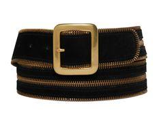 Suede Zipper Belt ...ooh,so,cool
