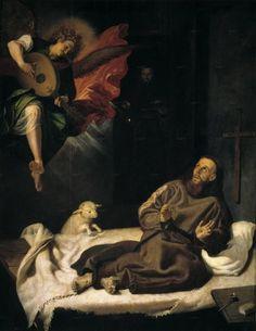 """""""Aparición del ángel a San Francisco"""" - Ribalta"""