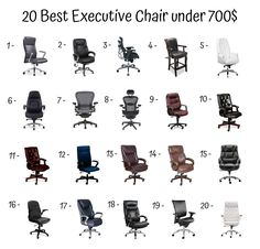 Ergonomic Seating: A Guide to Buying Office Chairs - Decor Ideas Buy Office, Executive Chair, Chair Design, Master Chief, Chairs, Character, Decor, Decoration, Stool