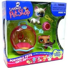 Littlest Pet Shop Kitten & Ferret Portable Gift Set <3<3<3<3<3<3<3
