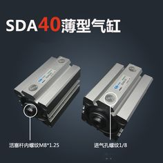 SDA40*25-S Free shipping 40mm Bore 25mm Stroke Compact Air Cylinders SDA40X25-S Dual Action Air Pneumatic Cylinder. Yesterday's price: US $22.89 (18.71 EUR). Today's price: US $20.83 (17.02 EUR). Discount: 9%.