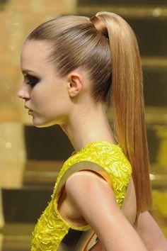 #sleek #pony tail in a blunt cut #socialblissstyle