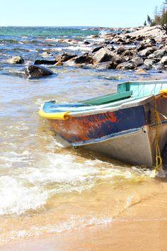 Old Boat on Lake Superior // Turquoise Boat