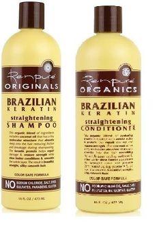 Renpure Organics Brazilian Keratin Straightening Shampoo & Conditioner 16 oz by Renpure. $18.95