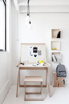11 Essentials For Kids Homework Stations | If you're tight on space and want to have both a study area and a craft area, a table with a lift top lid can be a study desk when the lid is closed and an arts area when open.
