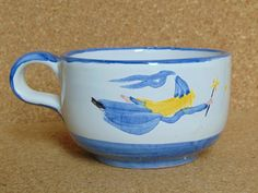 Pottery Fairy with Turquoise Hair Mug  from by PulcinellaCeramics