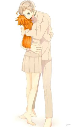 Norman x Emma The promised neverland Anime Couples Manga, Cute Anime Couples, Manga Anime, Anime Art, Haikyuu, Anime Zone, Draco And Hermione, Estilo Anime, Cute Friends