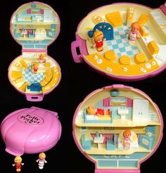 Polly Pocket had this exact cafe and those two dolls..!!!!