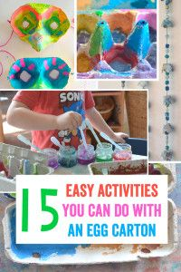 I love egg cartons. There are so many things you can do with them. We've been painting the same ones for about two weeks in the art studio I work at and the kids still haven't tired of them. Here…