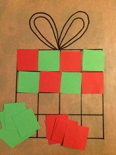 Christmas Crafts for toddlers Kleine und attraktive Tattooideen - ALLES - Cadeautje plakken in reeks Christmas Arts And Crafts, Christmas Crafts For Toddlers, Winter Crafts For Kids, Toddler Christmas, Toddler Crafts, Holiday Crafts, Kindergarten Christmas Crafts, Daycare Crafts, Theme Noel