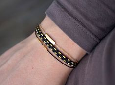 Handmade Miyuki beaded bracelet Gold plated lobster clasp   Etsy