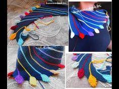 Alize Angora Gold Batik ile Yaprak Şal Yapımı-Making Leaf Shawl with Alize An. Knitting Videos, Crochet Videos, Knitting Stitches, Knitting Projects, Knitting Patterns, Crochet Patterns, Crochet Blouse, Crochet Shawl, Knit Crochet