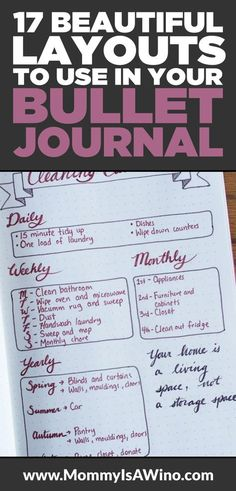 17 Beautiful Layouts to Use in Your Bullet Journal - Bullet Journal Ideas, Bullet Journal Layout, How to Start a Bullet Journal, Bullet Journal Weekly Spread