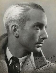 Photographie de Dora (Kefer) MAAR. Portrait de l'acteur Roland Caillaux. Tirage argentique