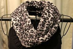Snow Leopard Infinity Scarf  in blackgray  & by ScarfLadyDesigns, $48.00