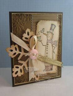 A Fancy Card Swap Snowman   # Pinterest++ for iPad #