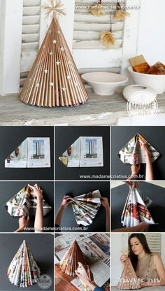 In this DIY tutorial, we will show you how to make Christmas decorations for your home. The video consists of 23 Christmas craft ideas. Diy Christmas Paper Decorations, Diy Paper Christmas Tree, Christmas Crafts For Kids, Diy Christmas Ornaments, Christmas Art, Christmas Projects, Simple Christmas, Holiday Crafts, Beautiful Christmas