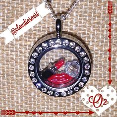 Origami Owl Red Lips Locket
