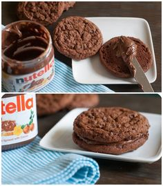 My Nutella-lovin' daughters would love these Nutella Chocolate Chip Cookies from @bakeat350!