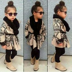 Definitely dress up my baby girl like this, so cute! Little fashionista Little Girl Outfits, Cute Outfits For Kids, Little Girl Fashion, My Little Girl, My Baby Girl, Toddler Fashion, Fashion Kids, Toddler Outfits, Cute Kids