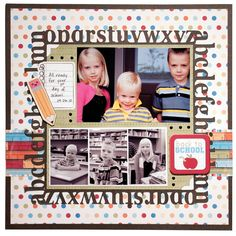 Back to School using Imaginisce Geek is Chic Collection - Scrapbook.com