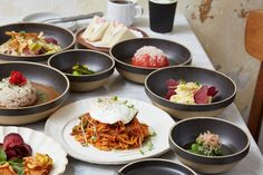 NYC's Newest Hip All-Day Cafe Dishes Out Homey Japanese Fare - Eater NY Nyc Bucket List, Japanese, Dishes, Restaurants, Food, Cafes, Japanese Language, Tablewares, Essen