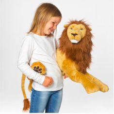 Ikea Large Lion Plush Stuffed Animal Gold Brown #Ikea