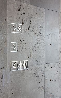 The main aim of the design is to achieve clarity and immediate interpretation when wayfinding through using universally recognisable icons. The Pictos project includes a complete alphabet, numbers and common symbols. The signs are self-adhesive and fabricated in stainless steel cut by laser. www.sanico.es AEDP Award. 2006