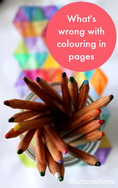 What's wrong with coloring in pages for kids