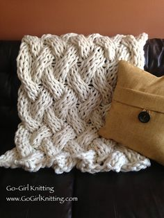 knitted throw pattern