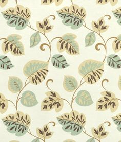 Waverly Whim Sun N Shade Mist Fabric - $9.8 | onlinefabricstore.net  To cover the ugly deer print on a comfy chair.