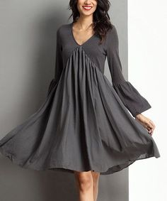 Reborn black v neck bell sleeve dress size small It is the exact dress pictured just in black. Never worn with tags still on. I am too flat chested for this style. Swing Dress, Dress Skirt, Dress Up, Mode Chic, Mode Style, Boho Fashion, Fashion Outfits, Womens Fashion, Bell Sleeve Dress