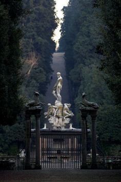 Neptune Isolotto Boboli Gardens in Florence