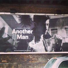 Alex Turner, gracing the walls of east London