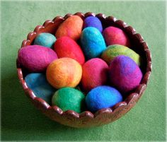 I don't do felting but this colorful basket makes it look very appealing!