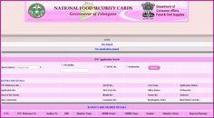 Online Telangana Ration Card Status Food Security Card Status