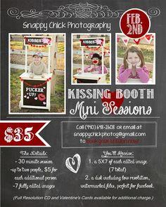 Valentine Kissing Booth Mini Session