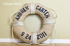 Vintage Nautical Party featuring personalized buoy | Made by a Princess Parties in Style #nauticalpartyideas #nauticalparties #personalizedbuoy #custombuoy #vintagenauticalparty