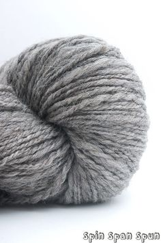 Simply Nature Big Skein Undyed HandSpun Grey by SpinSpanSpun, $47.00