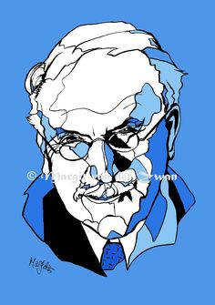 Portrait of Carl Jung famous Swiss psychiatrist psychoanalysis psychology mandala wellbeing mental health blue wall decor. Available as a print from my online shop. Boy Drawing, Drawing Ideas, Blue Wall Decor, Carl Jung, Drawing Challenge, Psychiatry, Social Science, Colorful Backgrounds