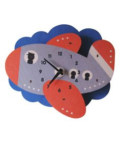 Loving this Jet Plane Wall Clock on #zulily! #zulilyfinds