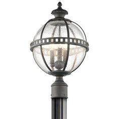 Halleron Outdoor Post Lantern by Kichler