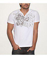Lloyd short-sleeved slit shirt
