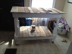 DIY Rustic Pallet Kitchen Island | Pallet Furniture DIY