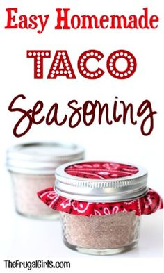 Skip a trip to the store, and have some yummy fun making your own taco seasoning with this Easy Homemade Taco Seasoning Recipe! It's SO simple to make, and you'll love the flavor! Easy Taco Seasoning Recipe, Homemade Fajita Seasoning, Homemade Tacos, Seasoning Mixes, Burger Seasoning, Chili Seasoning, Homemade Chili, Homemade Spices, Homemade Seasonings