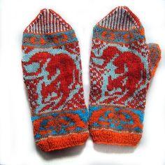 PDF knitting pattern-Kitsune Mittens. $5.00, via Etsy.