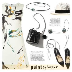 """""""Make a Splash With Paint Splatters"""" by pearlparadise ❤ liked on Polyvore featuring Eggs, Sensi Studio, Anja, paintsplatter, contestentry, pearljewelry and pearlparadise"""